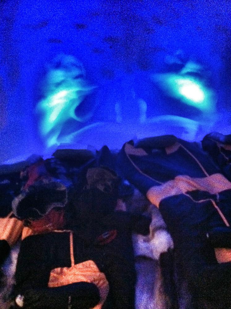 """Blick ins """"Hotelzimmer"""". Quartier für die Nacht am Nebelhorn"""