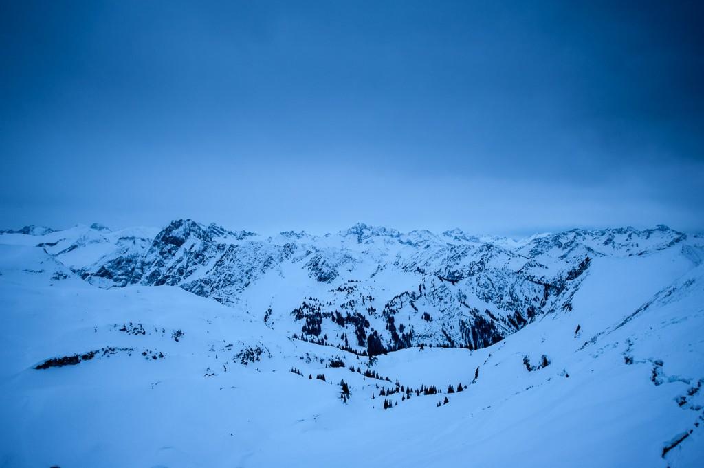 Abendlicher Blick in die Allgäuer Alpen