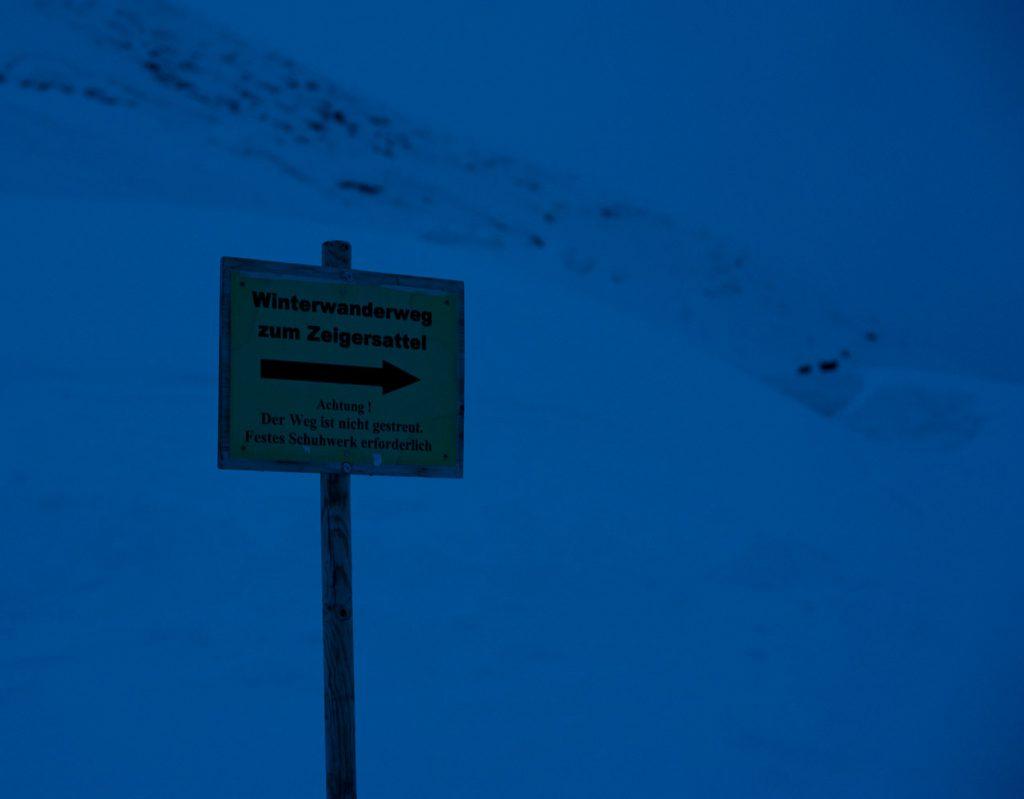 Winterwanderweg zum Zeigersattel