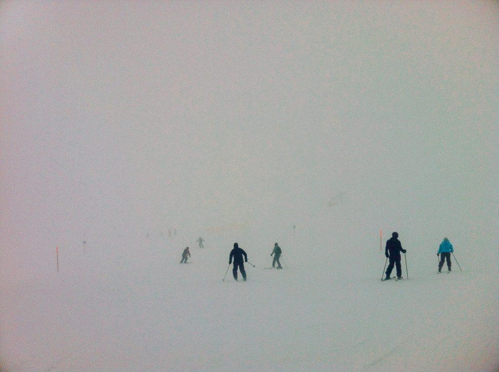 Mein erster Kontakt mit dem Nebelhorn, es war, wie sollte es anders sein, nebelig ohne Ende
