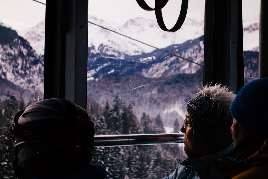 Fahrt mit der Nebelhornbahn in Oberstdorf