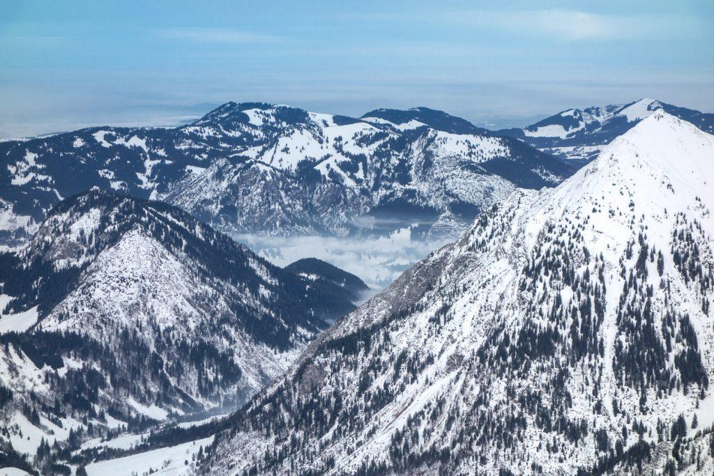 Blick vom Nebelhorngipfel