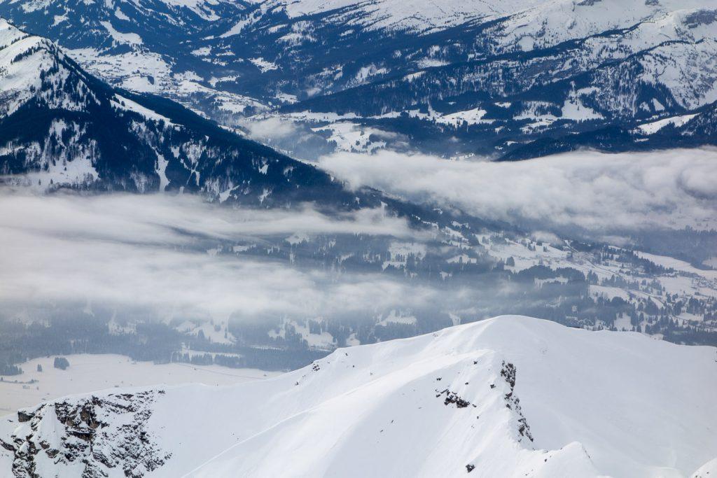 Blick ins Tal – vom Nebelhorn