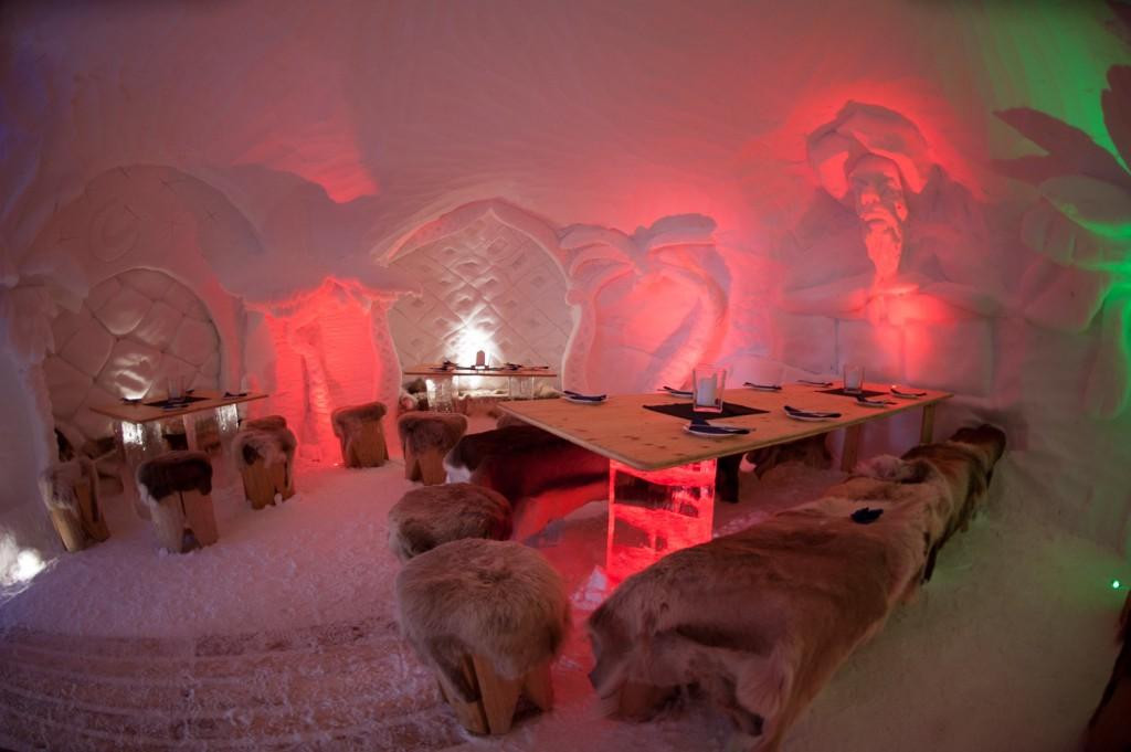 Speisesaal in der Iglu-Logde