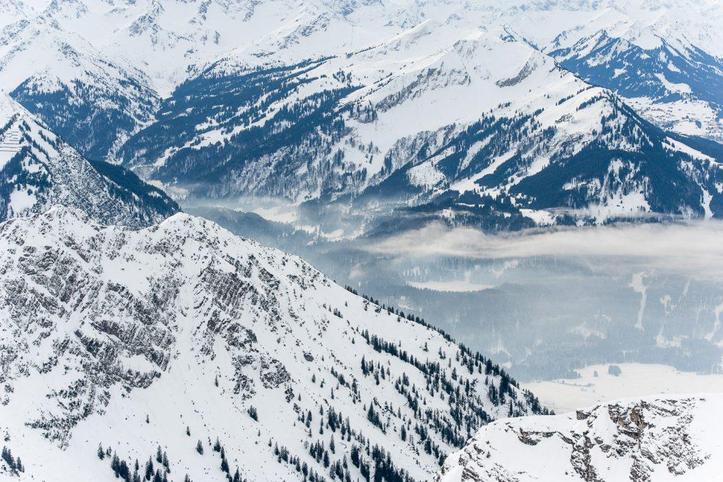 Blick ins Kleinwalsertal – vom Nebelhorn