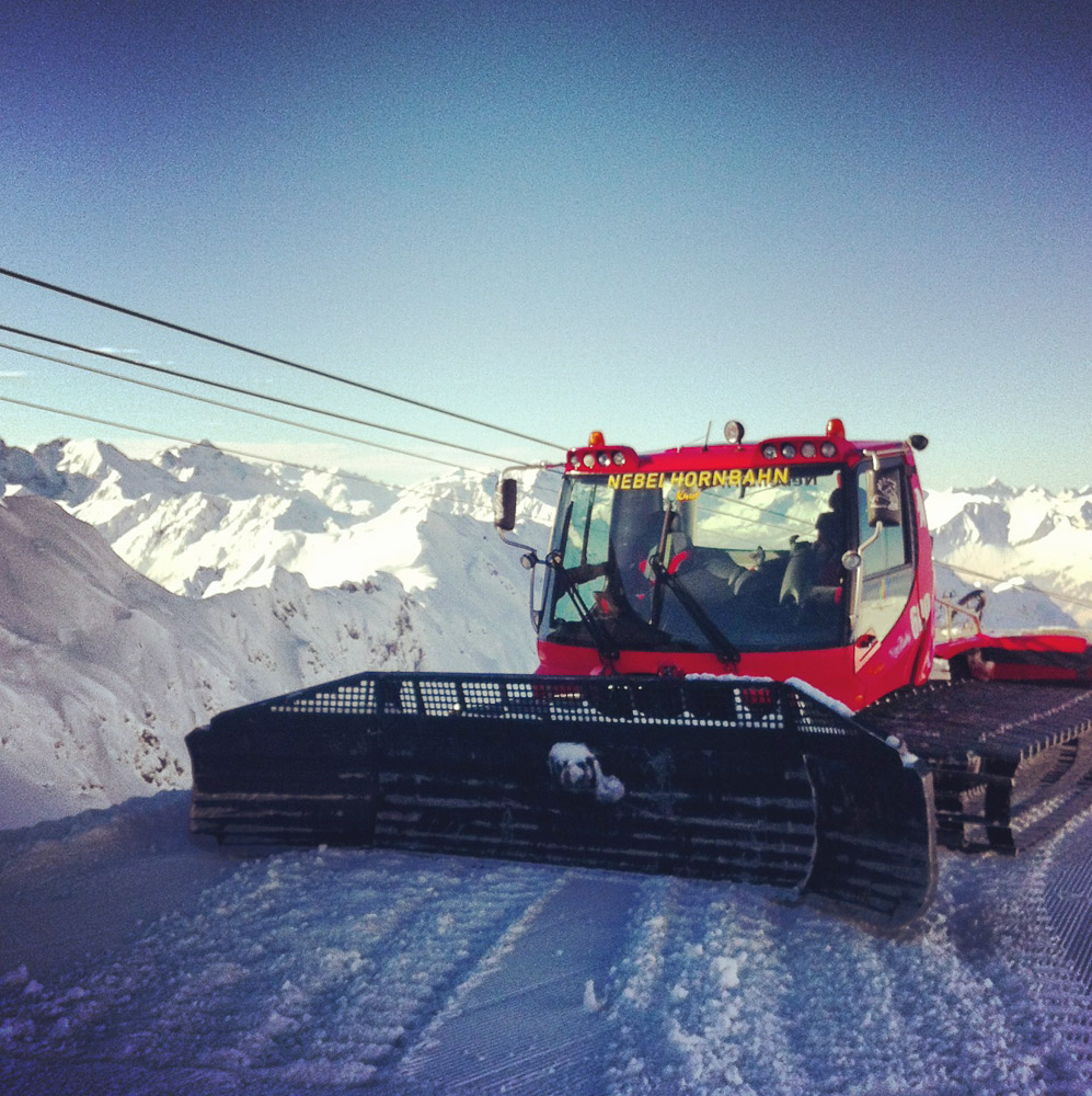 Pistenbully am Nebelhorn
