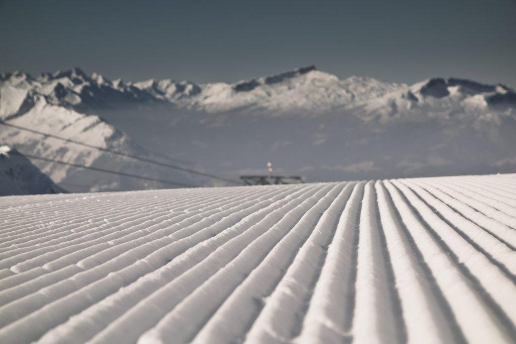 Frisch präparierte Pisten am Nebelhorn