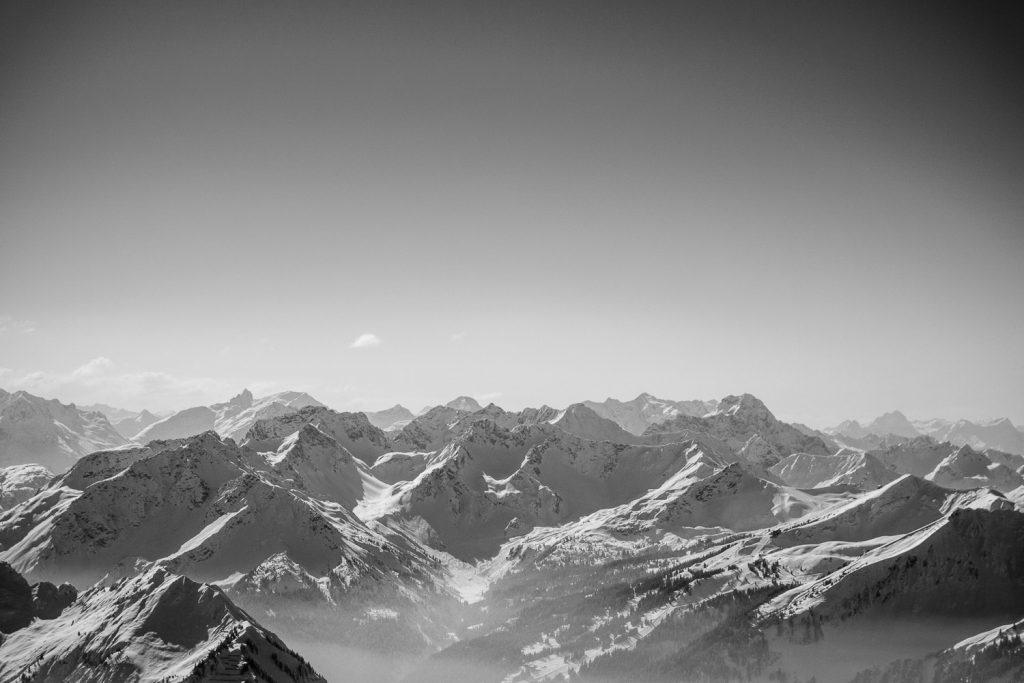 Am Nebelhorn-Gipfel