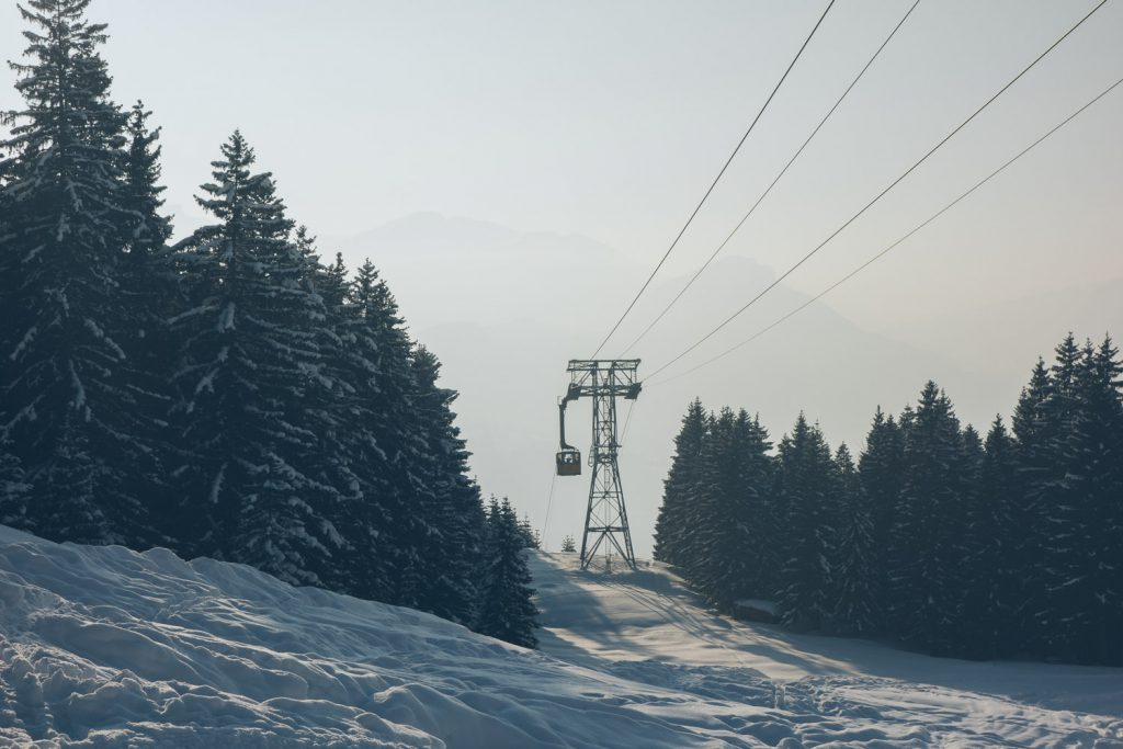 Ein Skitag am Nebelhorn geht langsam zu Ende