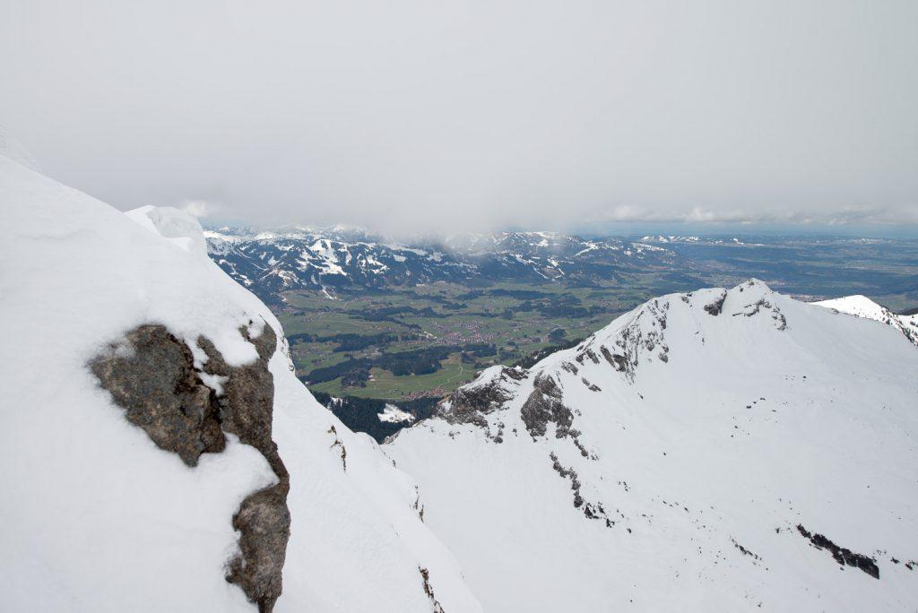 Blick vom Nebelhorn auf Fischen im Allgäu