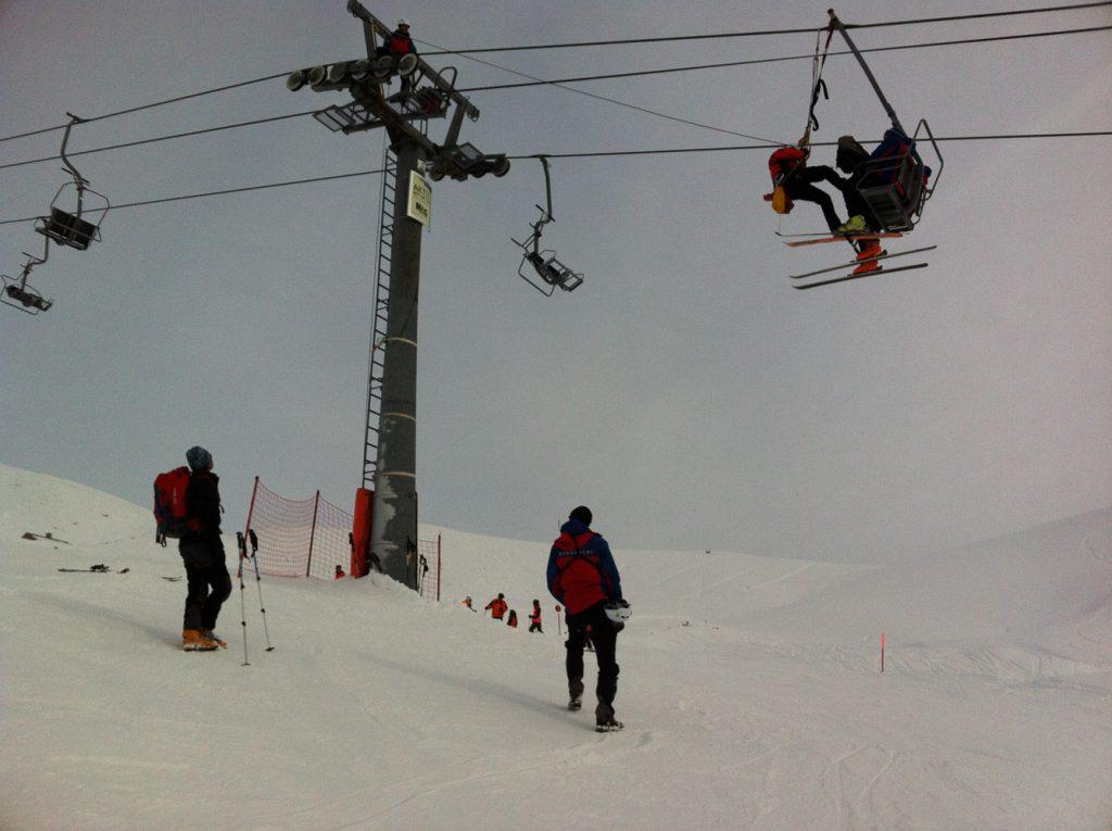 Liftrettung am Nebelhorn: zum Glück nur eine Übung
