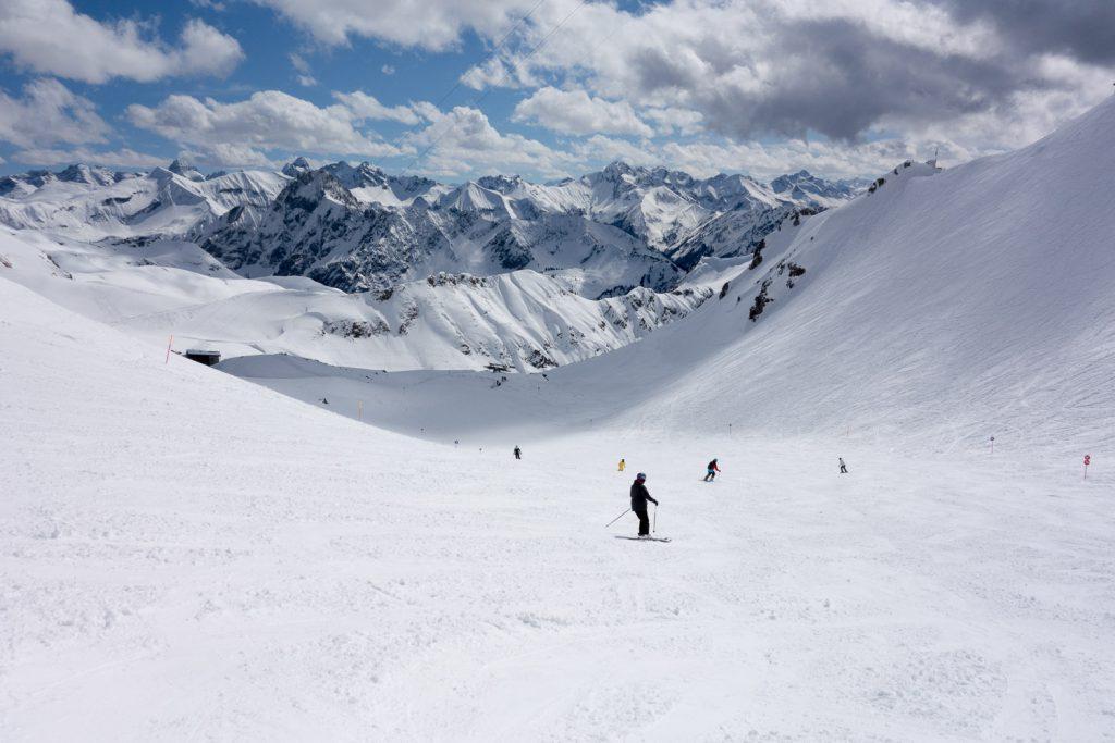 Immer noch super Pisten am Nebelhorn: im April 2013