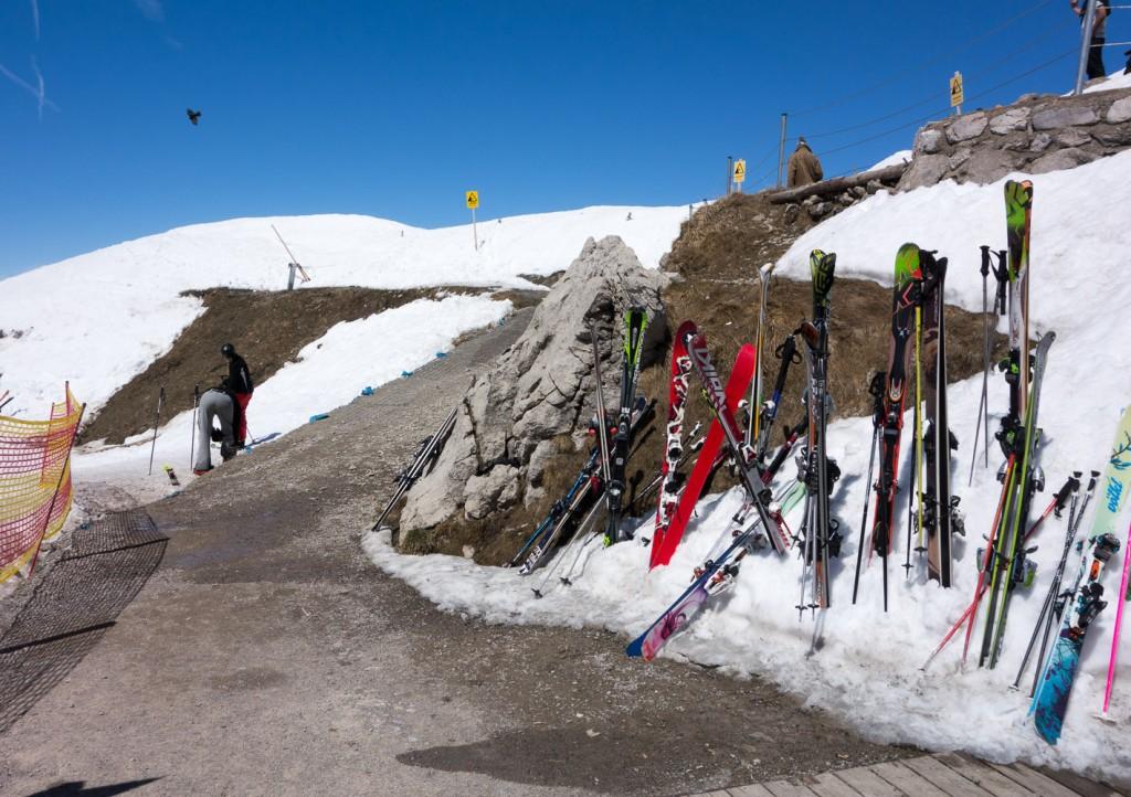 Gipfelstation am Nebelhorn im Frühling