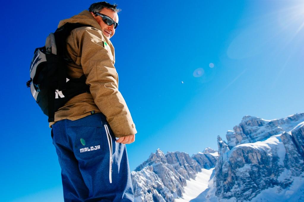 Pauli Hellweger: unser Skiguide und Skilehrer während der Skido Skisafari in den Dolomiten