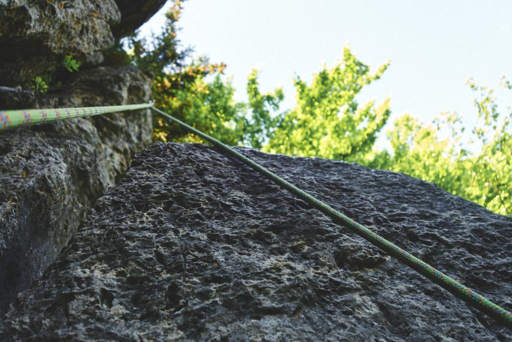 Klettern an der Stierberger Gemsenwand: Schon wieder auf dem Weg nach unten … #25meter #vierhakenmüssengenügen #frankenjura #stierbergergämsenwand