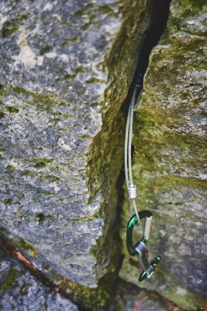Hätte wohl gehalten – oder wenn das rausfummeln länger dauert als die ganze Route zu klettern, und ich kletter' fei ned schnell …;-) #klemmkeil
