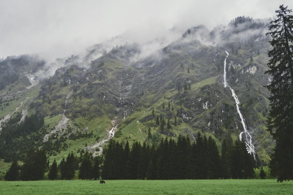 Auf dem Rückweg vom Oytal-Haus nach Oberstdorf