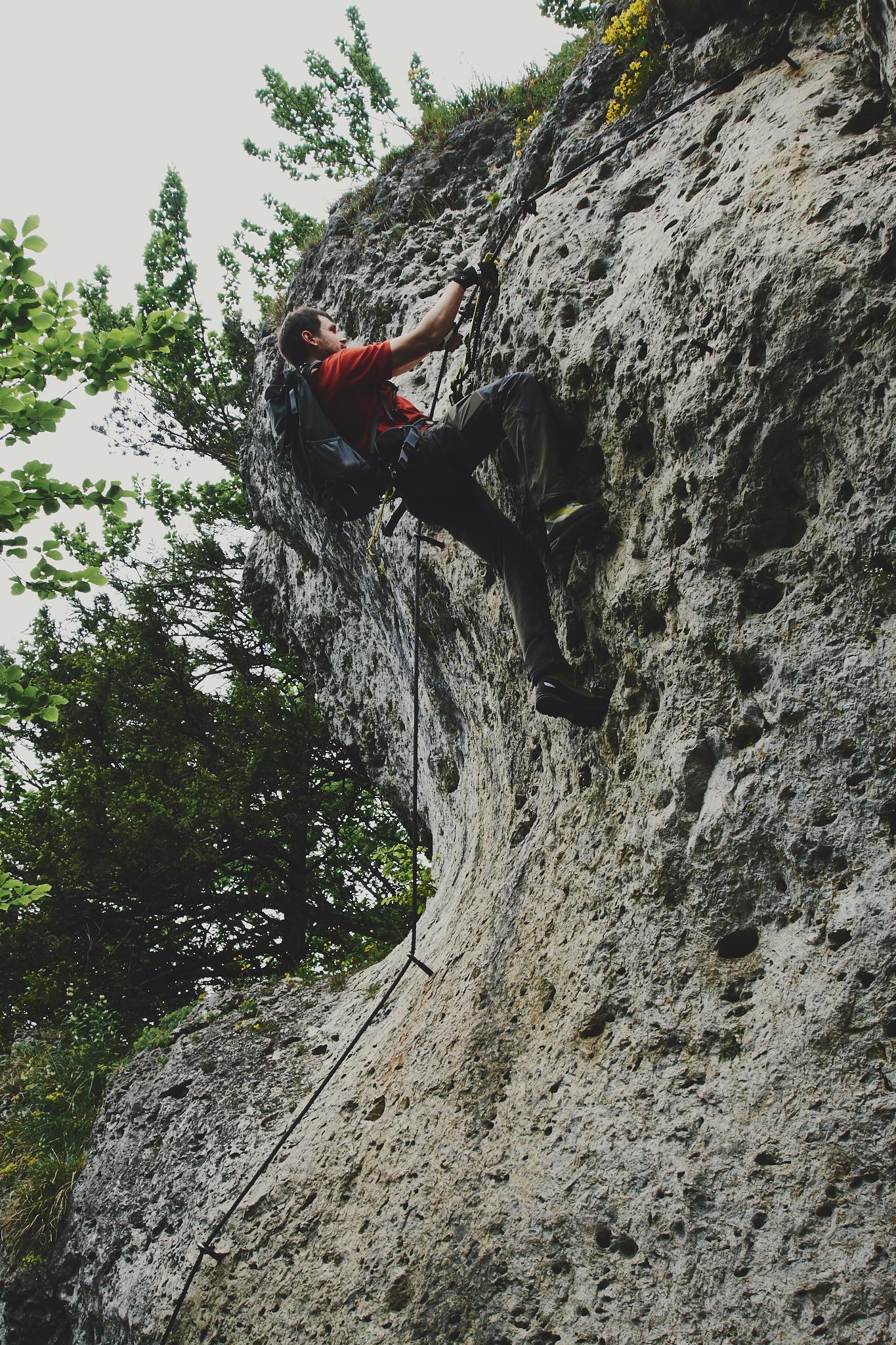 In der Wittmann-Schickane am Höhenglücksteig