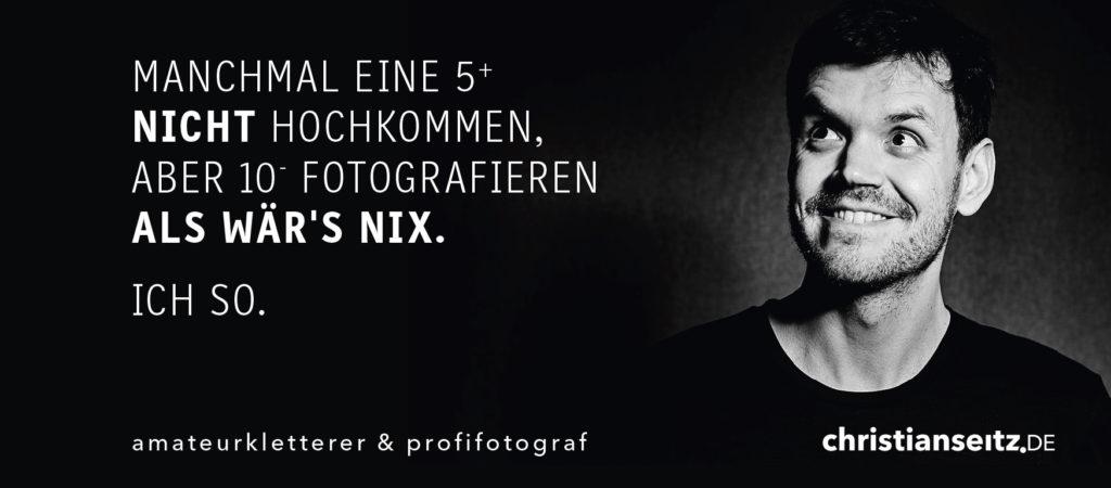 Anzeige Kletterfotografie in der aktuellen Ausgabe des Schwertner Kletterführer für das Frankenjura aus dem Panico Verlag