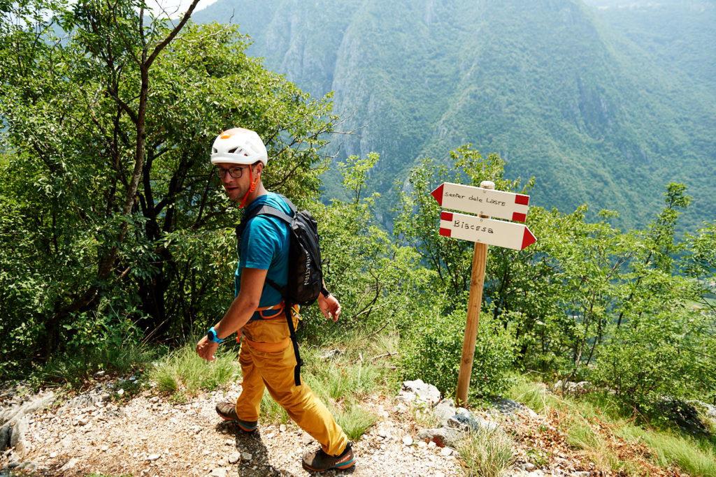 In Richtung Abstieg via Ferrata Laste