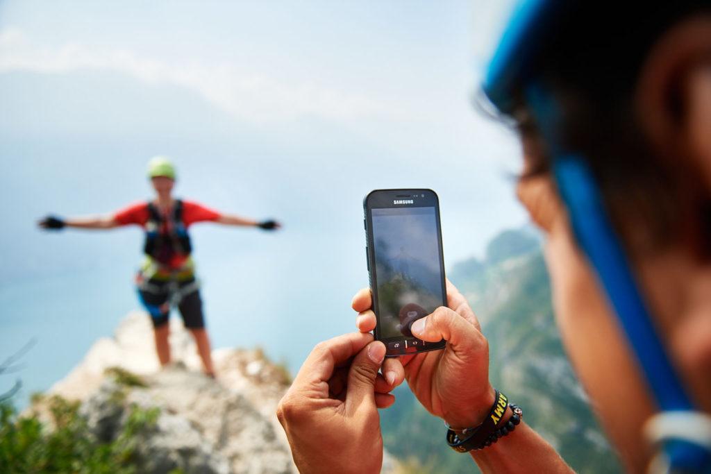 Fotografieren im Klettersteig Fausto Susatti