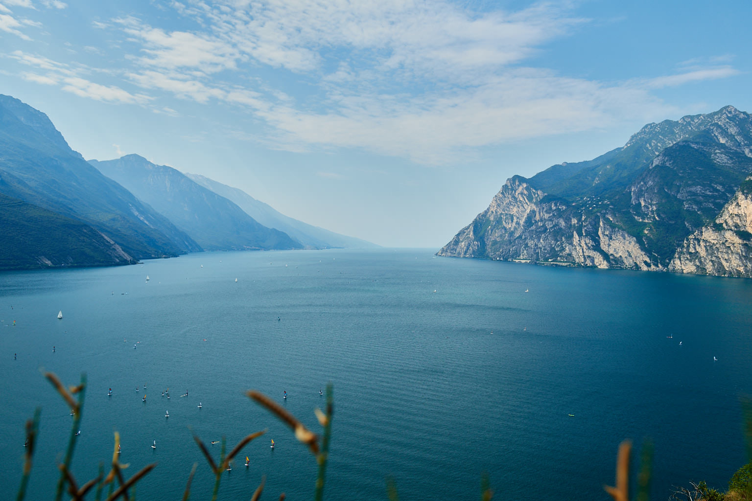 Ausblick vom Monte Brione auf den Gardasee