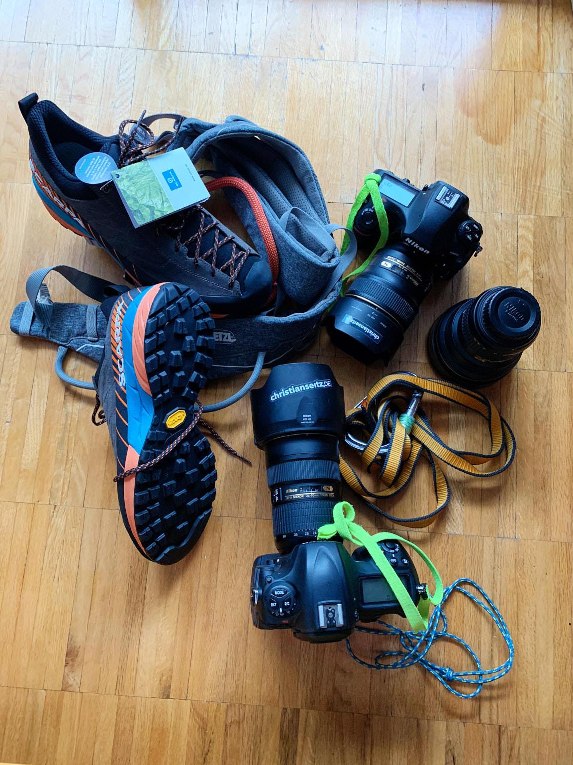 Ausrüstungswahl für die Klettersteig-Runde