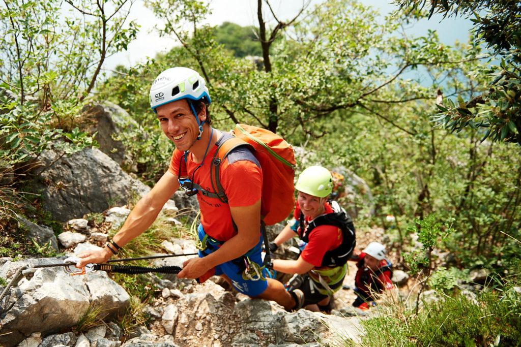Im Klettersteig Fausto Susatti zum Cima Capi