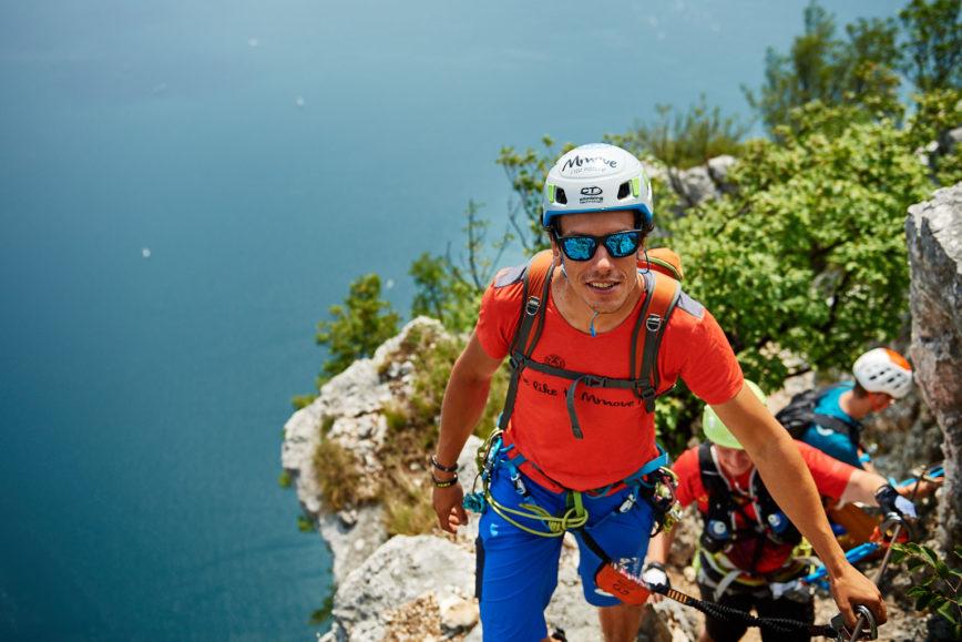Mit dem Scarpa Mescalito im Klettersteig am Gardasee unterwegs