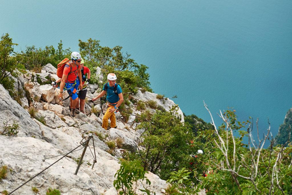 Unterwegs im Klettersteig Fausto Susatti