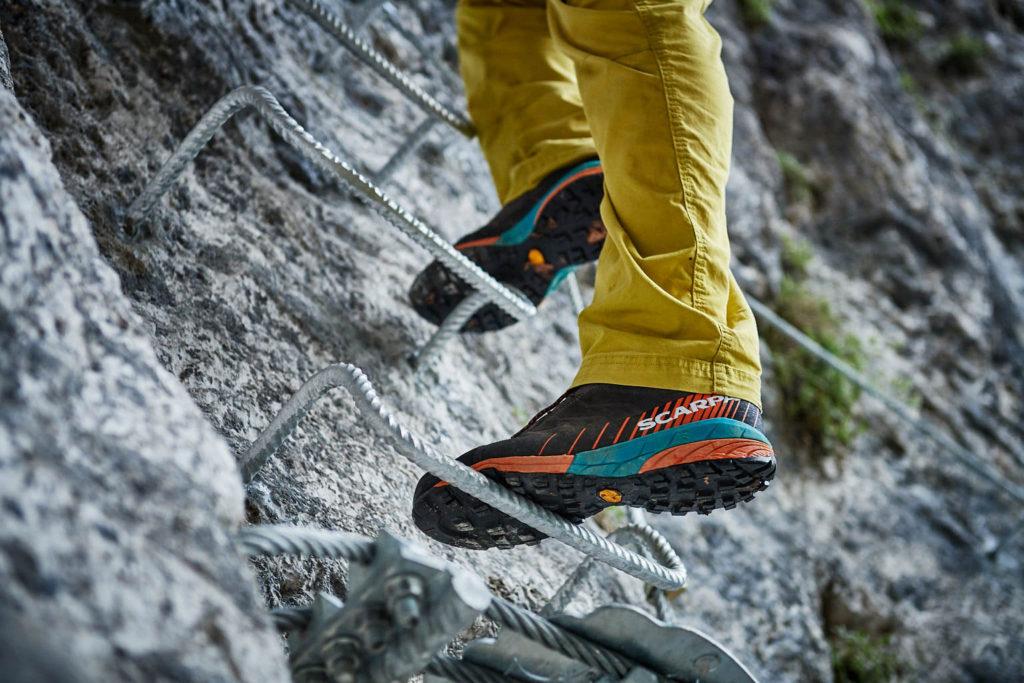 Der Scarpa Mescalito macht auch im neuen Klettersteig Ballino eine gute Figur