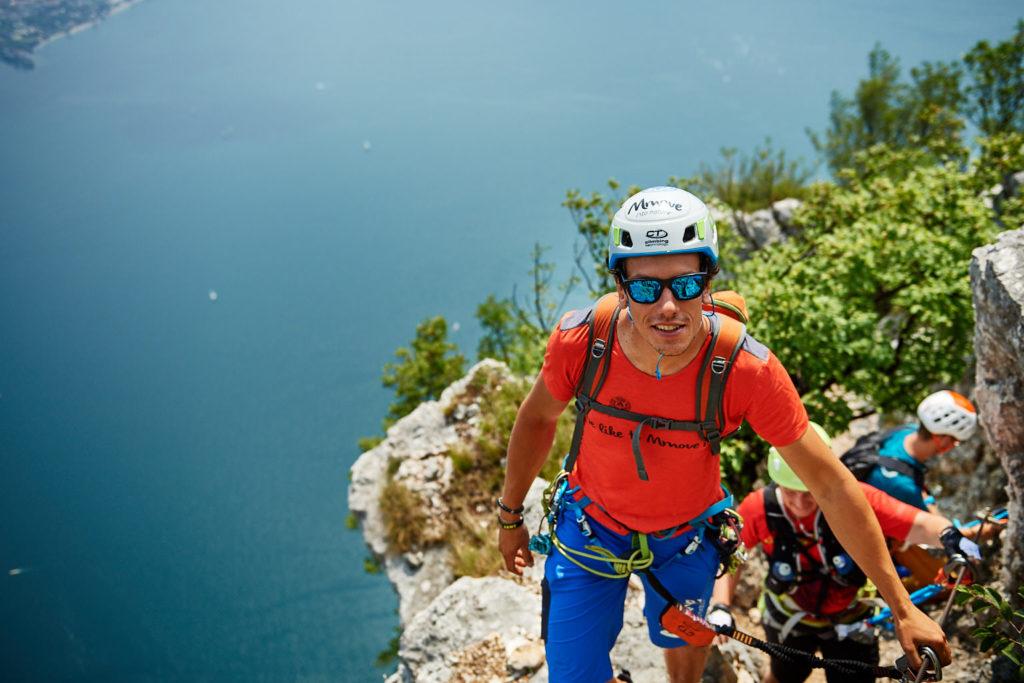 Unterwegs im Klettersteig Fausto Susatti kurz vor dem Cima Capi