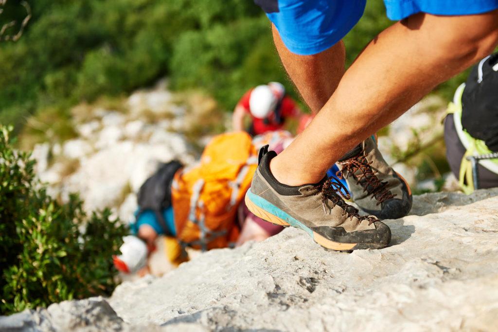 Der Scarpa Mescalito im Klettersteig zum Cima Capi