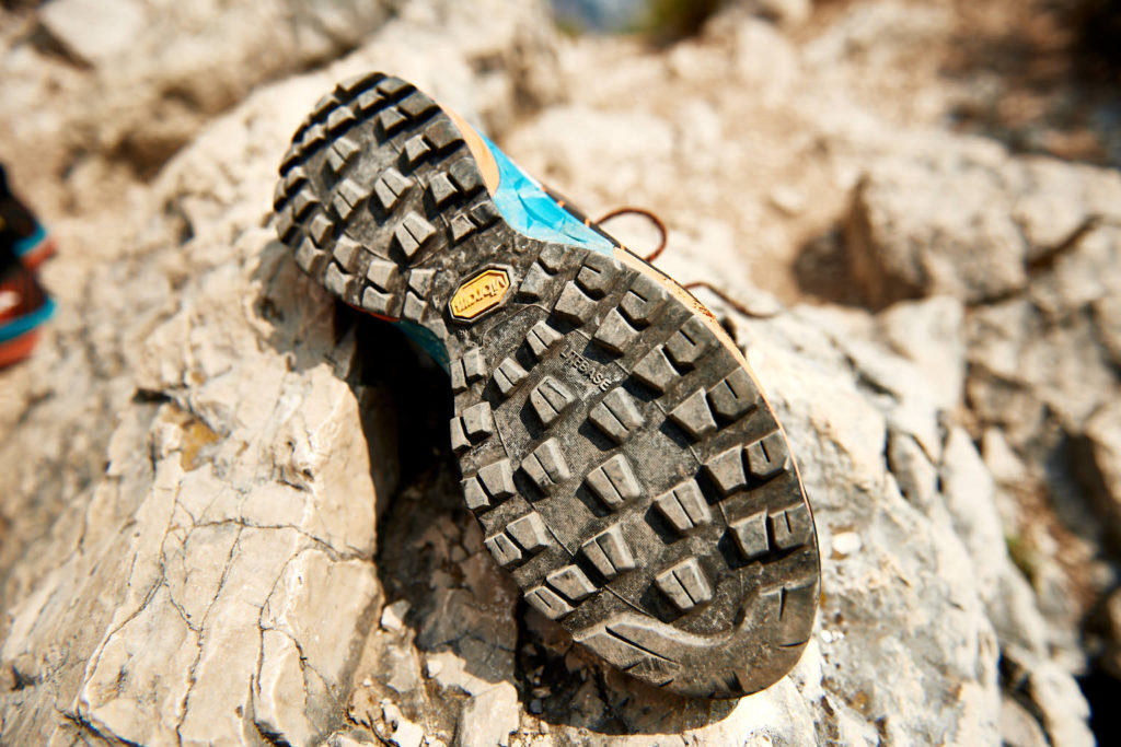 Das Profil meines Scarpa Mescalito am Cima Capi