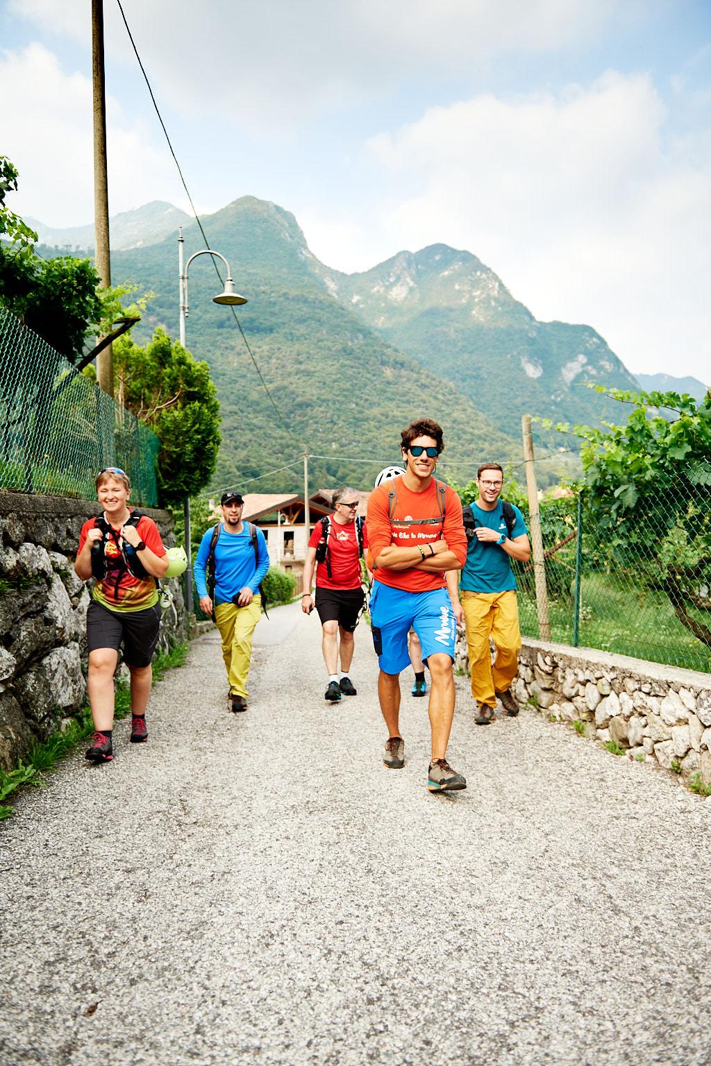 Die Gruppe auf dem Weg zum Cima Capi