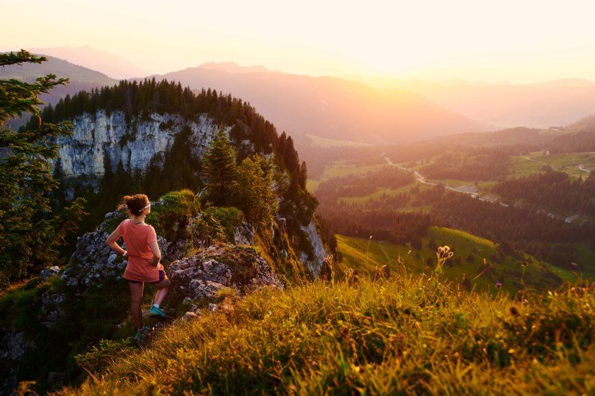 Kleine Bergtour zum Sonnenuntergang
